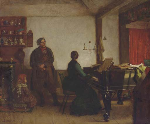 Play Me Tune de Jonathan Eastman Johnson (1824-1906, United Kingdom)