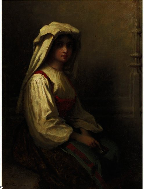 The Bohemian Girl de Jonathan Eastman Johnson (1824-1906, United Kingdom)