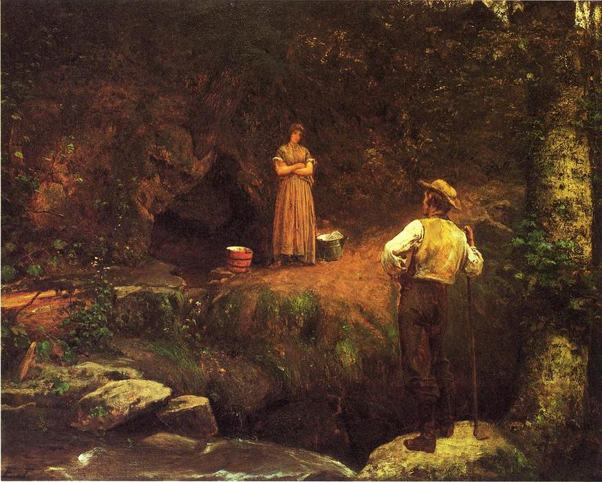 le début amoureux de Jonathan Eastman Johnson (1824-1906, United Kingdom)