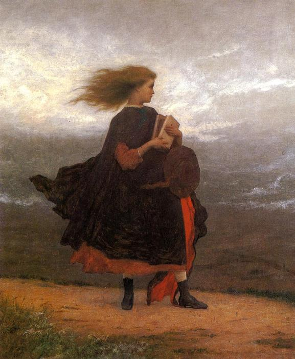 le fille i gauche derrière moi de Jonathan Eastman Johnson (1824-1906, United Kingdom)