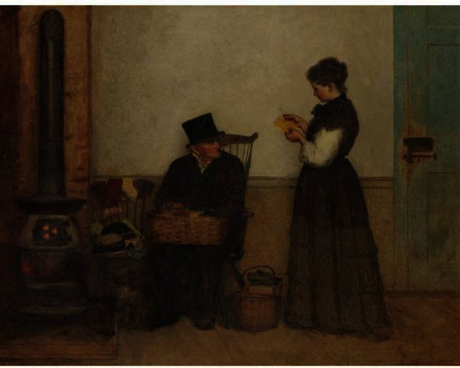 Le Colporteur (Nantucket) de Jonathan Eastman Johnson (1824-1906, United Kingdom)