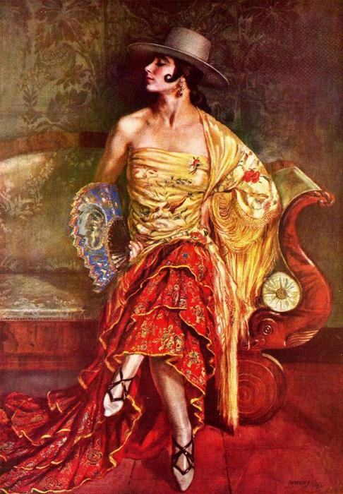 Flamenca de Jorge Apperley (George Owen Wynne Apperley) (1884-1960, United Kingdom)