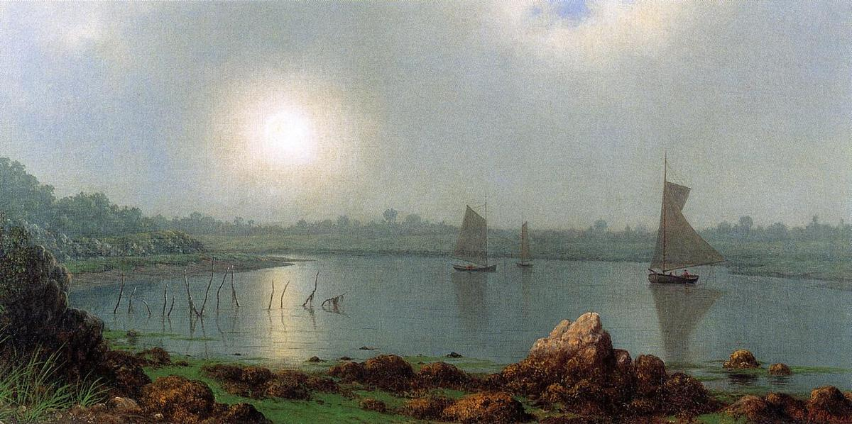 York Port , côte du maine, 1877 de Martin Johnson Heade (1819-1904, United States) | Reproductions De Qualité Musée | ArtsDot.com