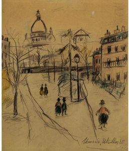 Maurice Utrillo - butte Montmartre 2