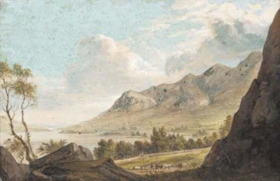 Derwent Waster de Paul Sandby (1798-1863, United Kingdom)