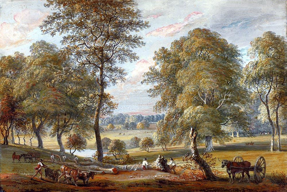 Foresters à Windsor Great Park de Paul Sandby (1725-1809, United Kingdom) | Reproductions D'art De Musée | ArtsDot.com