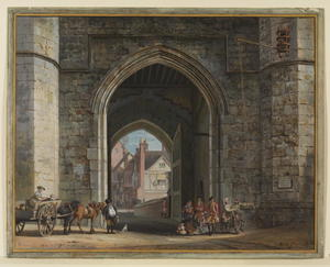 Paul Sandby - Henry VIII Gateway, le château de Windsor