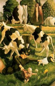 Stanley Spencer - Vaches à Cookham