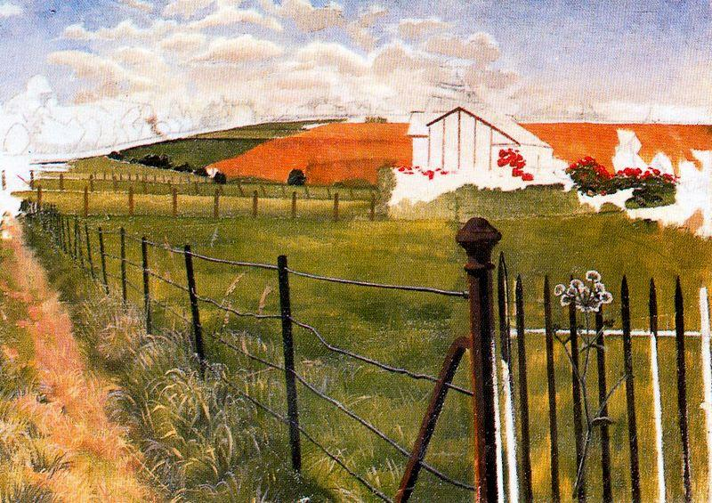 Vaste paysage avec un flingue wroght-fer de Stanley Spencer (1891-1959, United Kingdom) | ArtsDot.com