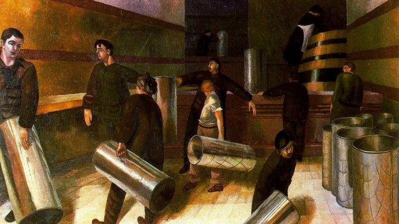 Remplissage urnes de thé de Stanley Spencer (1891-1959, United Kingdom) | ArtsDot.com