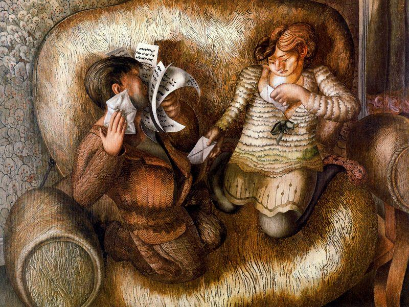 amour lettres de Stanley Spencer (1891-1959, United Kingdom)