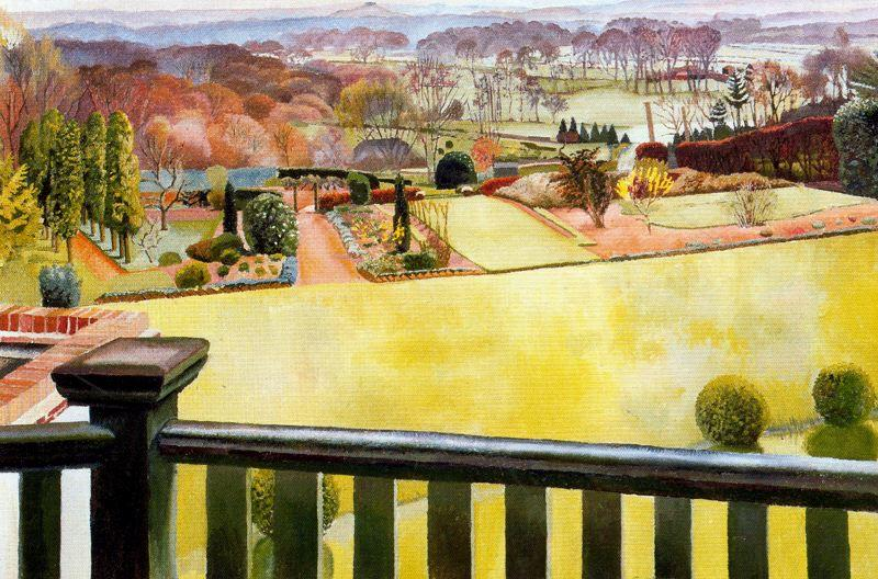 Oxfordshire Paysage de Stanley Spencer (1891-1959, United Kingdom) | Reproduction Peinture | ArtsDot.com