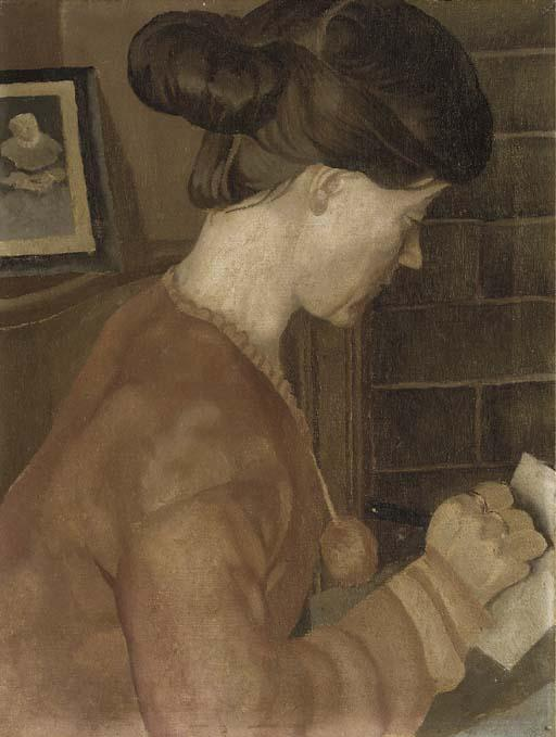 portrait de mme C . P . Subvention de Stanley Spencer (1891-1959, United Kingdom)