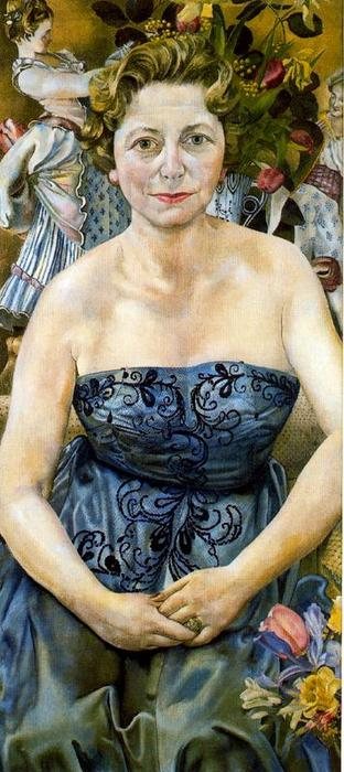 Portrait de Mme Marjorie Metz de Stanley Spencer (1891-1959, United Kingdom)