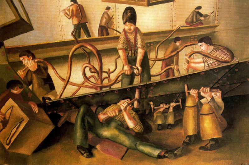 Riveteuses de Stanley Spencer (1891-1959, United Kingdom)