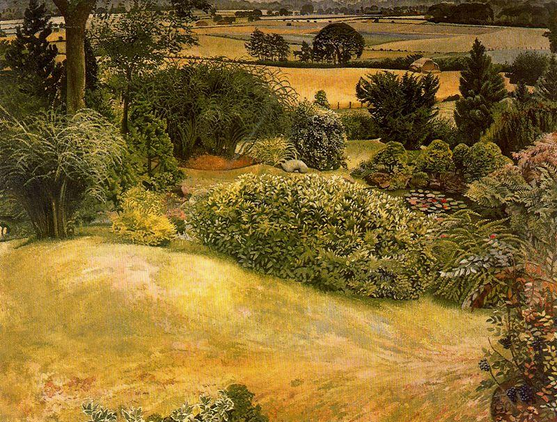 jardin de roches cookham dénés  de Stanley Spencer (1891-1959, United Kingdom)