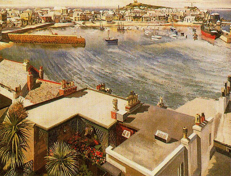 le harbour . St Ives de Stanley Spencer (1891-1959, United Kingdom) | Reproduction Peinture | ArtsDot.com