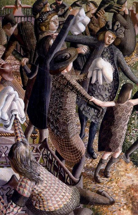 La Résurrection. Réunion 1 de Stanley Spencer (1891-1959, United Kingdom)