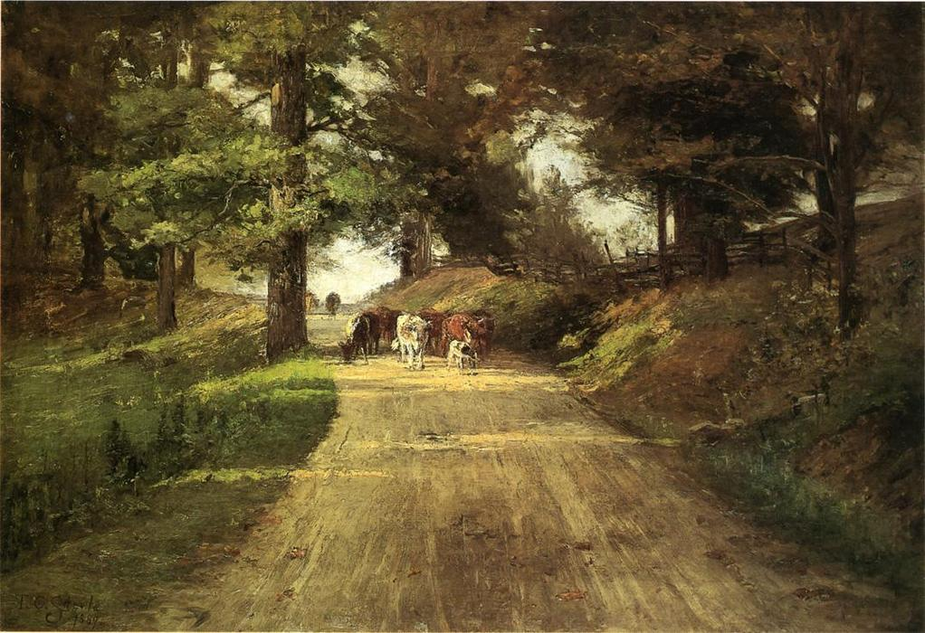 An Road Indiana, 1889 de Theodore Clement Steele (1847-1926, United States) | ArtsDot.com