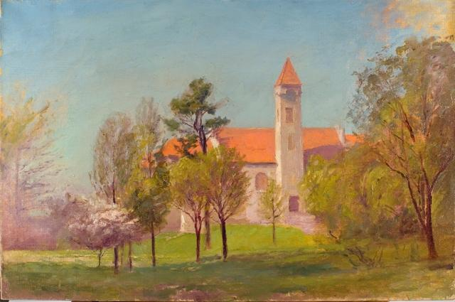 Campus Tower de Theodore Clement Steele (1847-1926, United States)