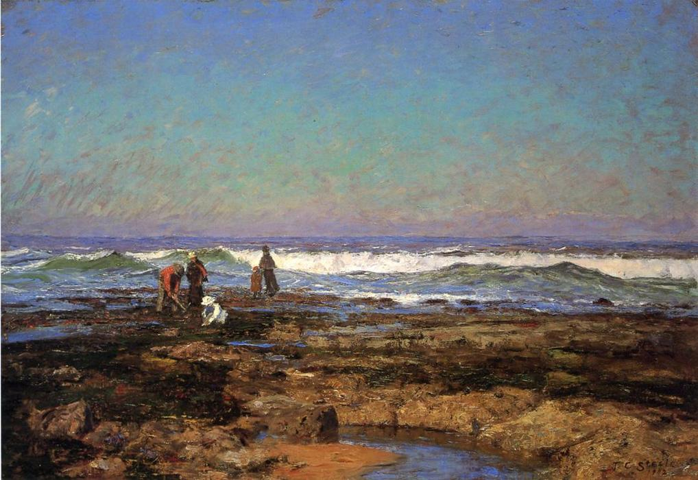 Clam Diggers, 1902 de Theodore Clement Steele (1847-1926, United States) | ArtsDot.com