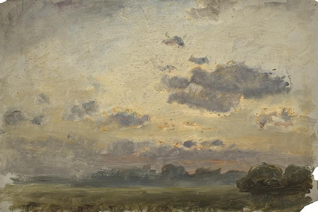 paysage au 19 de Theodore Clement Steele (1847-1926, United States)