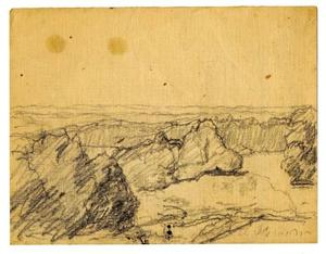 Theodore Clement Steele - paysage croquis 2