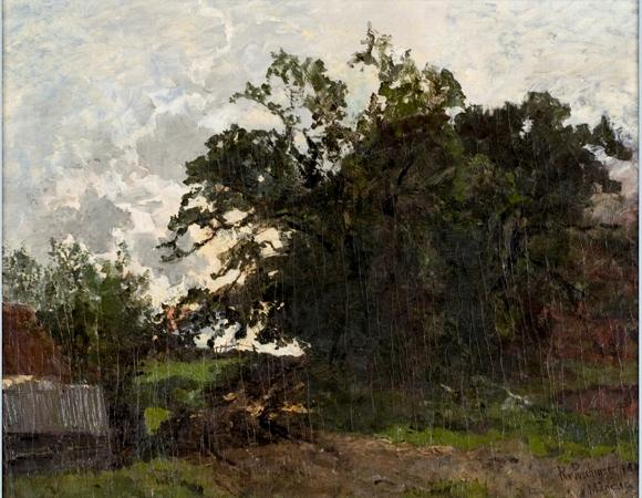 paysage au de Theodore Clement Steele (1847-1926, United States)