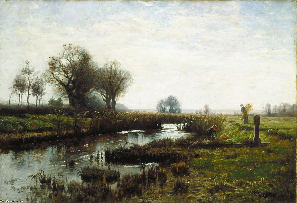 Late Afternoon, Dachau Moor de Theodore Clement Steele (1847-1926, United States) | ArtsDot.com