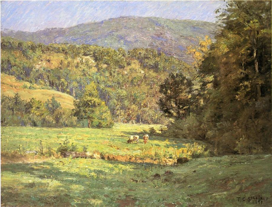 Roan Mountain, huile sur toile de Theodore Clement Steele (1847-1926, United States)
