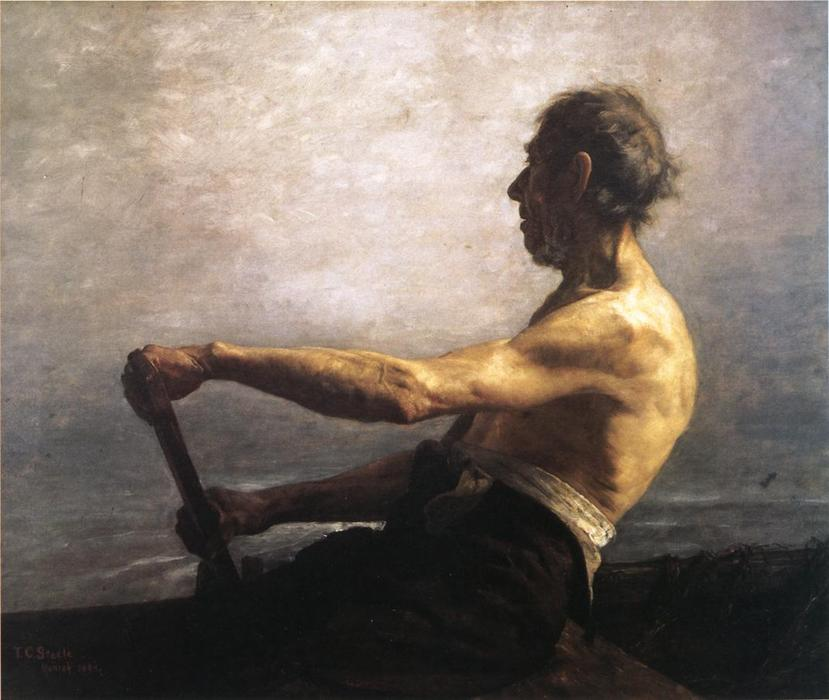 The Boatman de Theodore Clement Steele (1847-1926, United States)