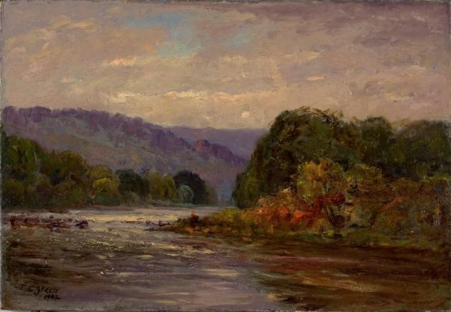 Les Rapids de Theodore Clement Steele (1847-1926, United States)