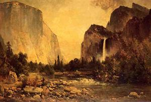Thomas Hill - Lone Fisherman à Yosemite