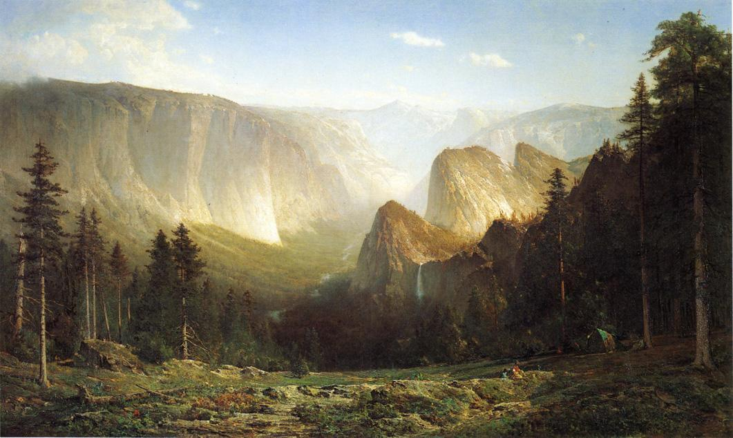 Camp Piute, Grande Canyon de la Sierra, Yosemite, huile sur toile de Thomas Hill (1829-1908, United Kingdom)