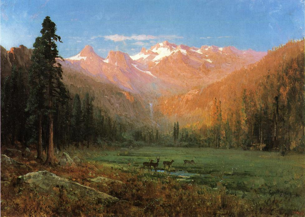 vue de cascade lake , près de tahoe de Thomas Hill  (commander Fine Art tableau peint à la main Thomas Hill)