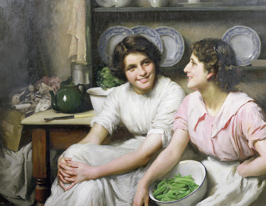 Bavards, 1890 de Thomas Benjamin Kennington (1856-1916, United Kingdom)