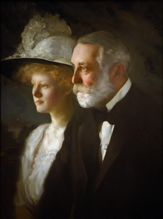 Clay Frick avec sa fille, Helen Clay Frick, 1910 de Edmund Charles Tarbell (1862-1938, United States)