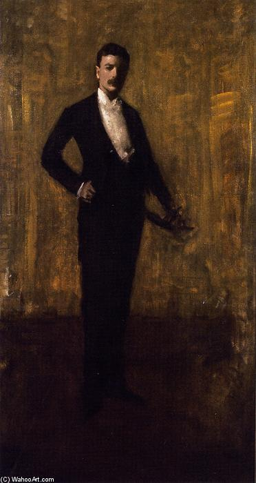 colbert huntington greer , portrait croquis, huile sur toile de William Merritt Chase (1849-1916, United States)