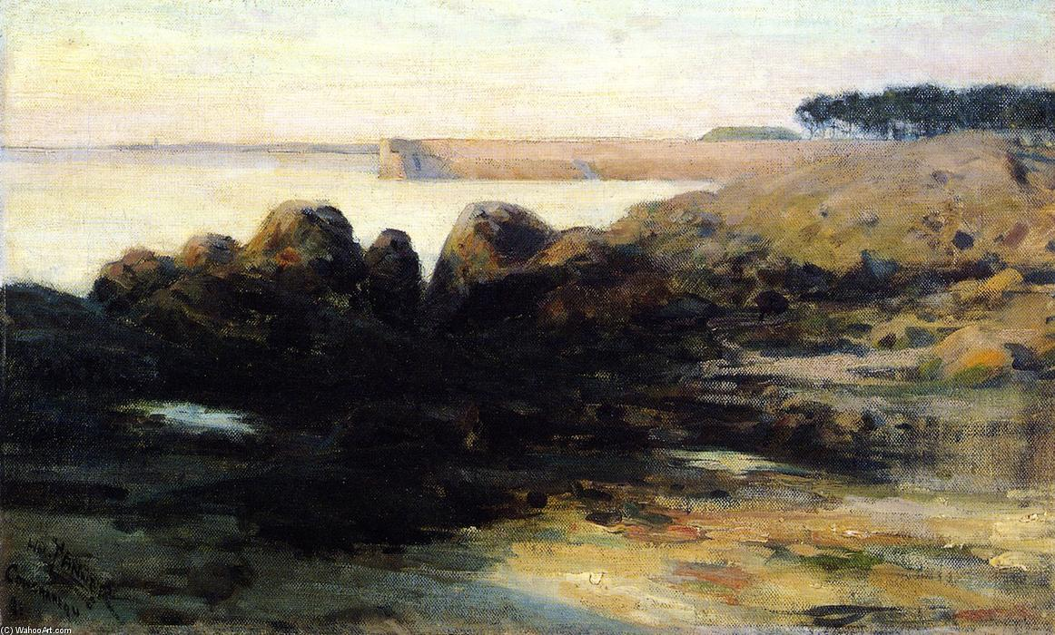Concarneau, huile sur toile de Henry Ossawa Tanner (1859-1937, United States)