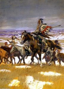 Charles Marion Russell - Scouts oiseau en hiver
