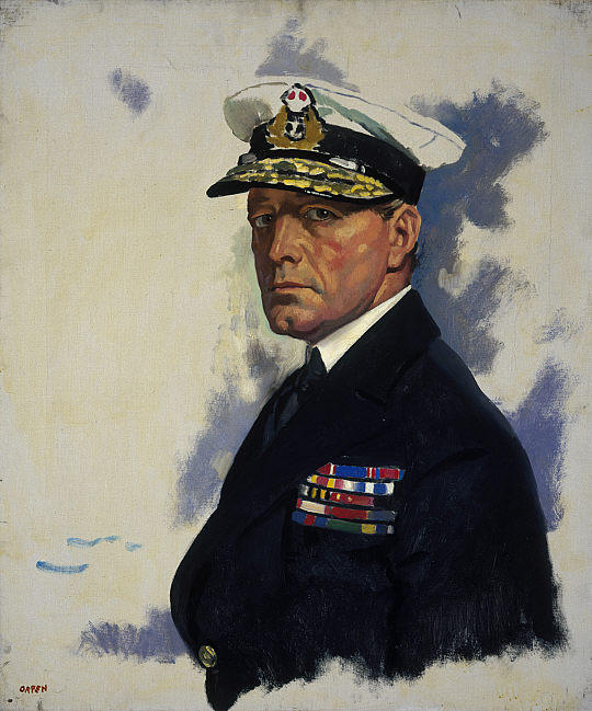 David Beatty, 1st Earl Beatty de William Newenham Montague Orpen (1878-1931, Ireland) | Reproductions D'art De Musée | ArtsDot.com