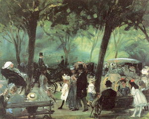 William James Glackens - le en voiture centrale  parc