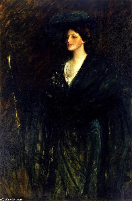 The Emerald Lady, huile sur toile de William Merritt Chase (1849-1916, United States)