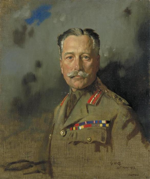 Le feld-maréchal Sir Douglas Haig, 1917 de William Newenham Montague Orpen (1878-1931, Ireland)