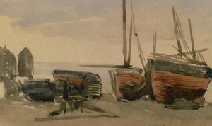James Abbott Mcneill Whistler - Hastings : pêche bateaux