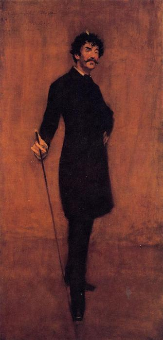 James Abbott McNeil Whistler, huile sur toile de William Merritt Chase (1849-1916, United States)