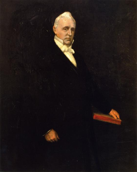 James Buchanan, huile sur toile de William Merritt Chase (1849-1916, United States)