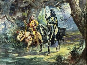 Charles Marion Russell - Knight et Jester