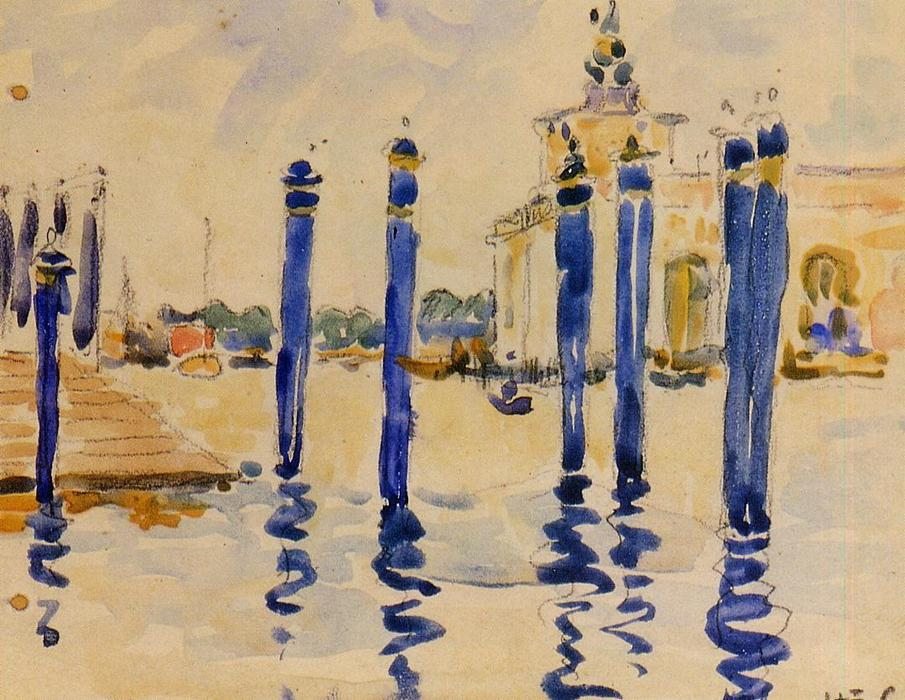 La Donana, Venise, aquarelle de Henri Edmond Cross (1856-1910, France)