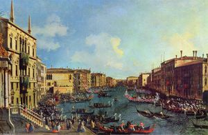 Giovanni Antonio Canal (Canaletto) - Une Régate le grand canal